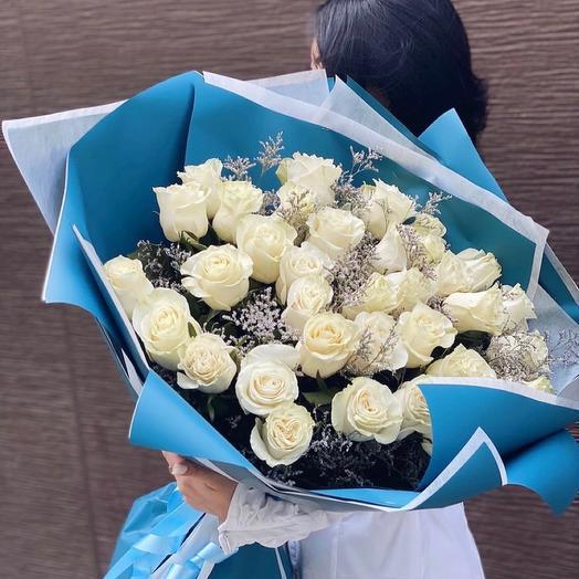 Монобукет 35 роз