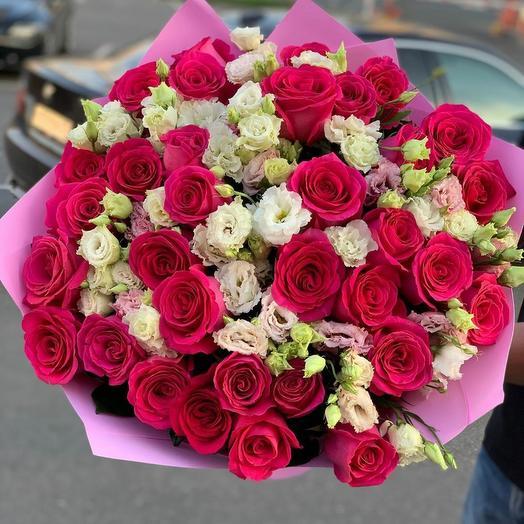 Микс из роз и эустом