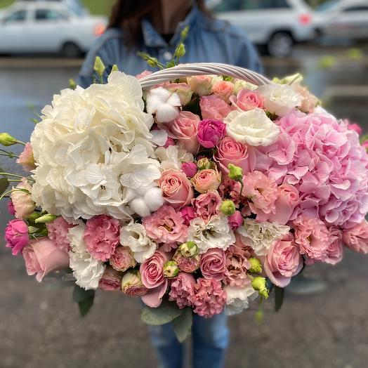 Корзина с цветами «Счастье»