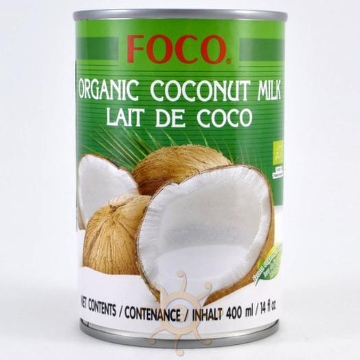 Молоко кокосовое органическое (жирность 10-12%) Foco, 400мл
