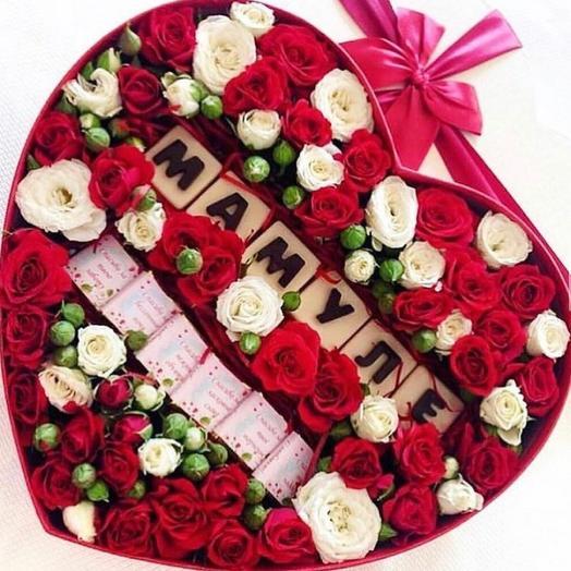 Цветочная коробочка «Мамуле»