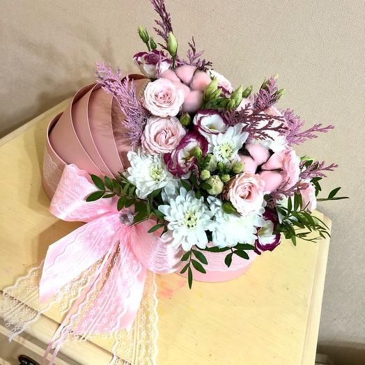 Цветы в колясочке на выписку