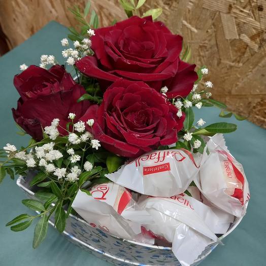 """Цветы в коробке """"Элегия"""""""