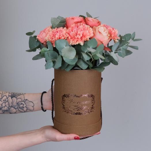 Розы Кахала с диантусом / Craft 006