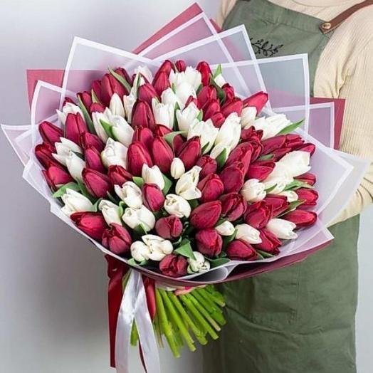 Букет из 101 тюльпан