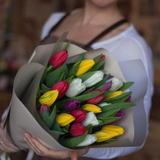 25 тюльпанов микс