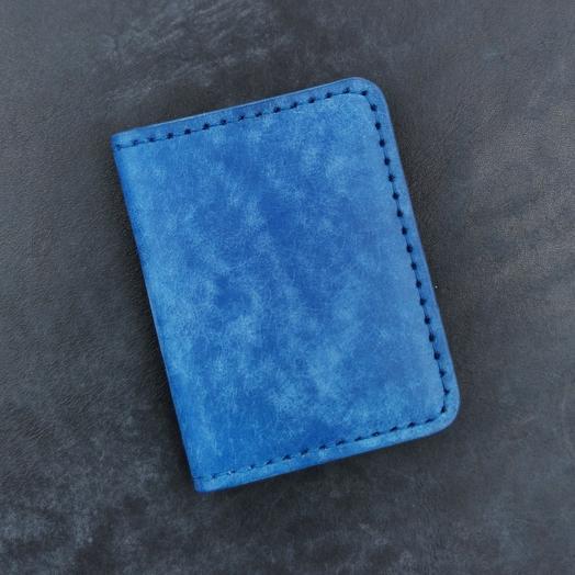 Мини кошелёк ручной работы из кожи растительного дубления, кардхолдер