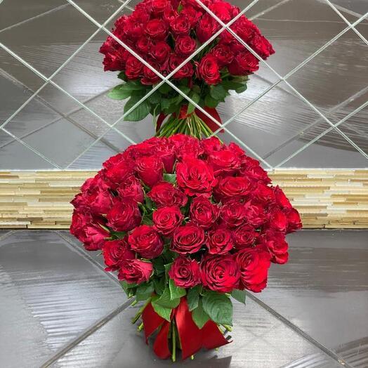 Букет из 51 кенийских роз