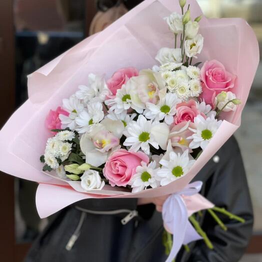 Сборный с орхидеями