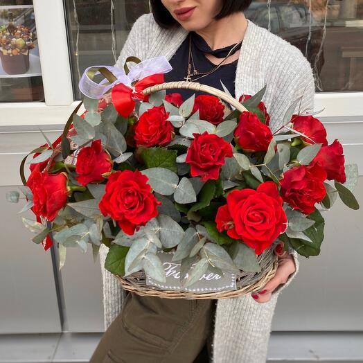 """Корзина роз""""Ред"""""""