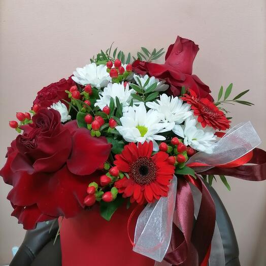 """Цветы в коробке """"Страсть"""""""