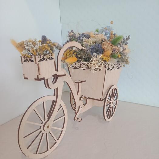 Велосипед с сухоцветами