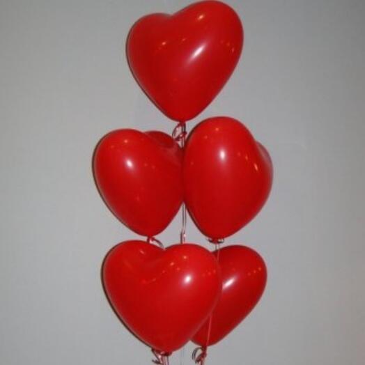 Гелиевые сердца