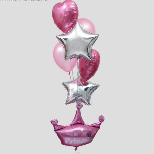 Набор шаров «С днём рождения, принцесса»,  8 шт