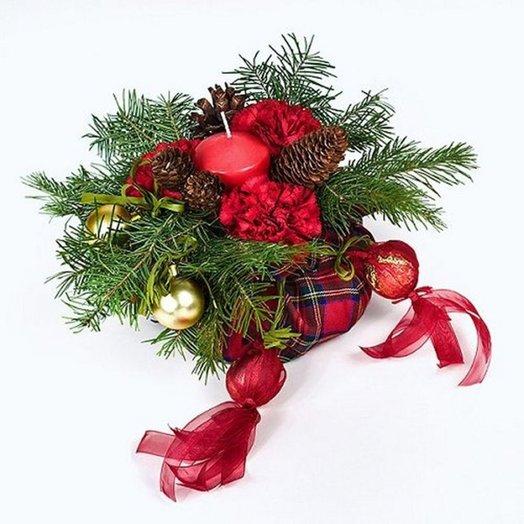 Композиция Новогодняя ночь: букеты цветов на заказ Flowwow