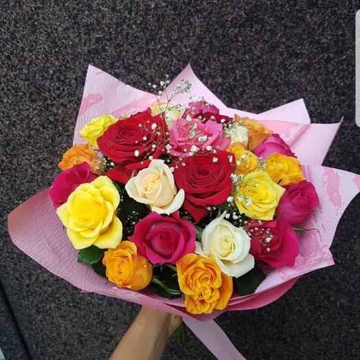 Букет из роз разного цвета: букеты цветов на заказ Flowwow