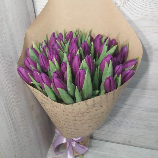 51 штук тюльпан: букеты цветов на заказ Flowwow