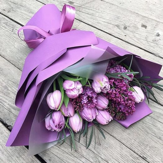 Сиреневый миг: букеты цветов на заказ Flowwow