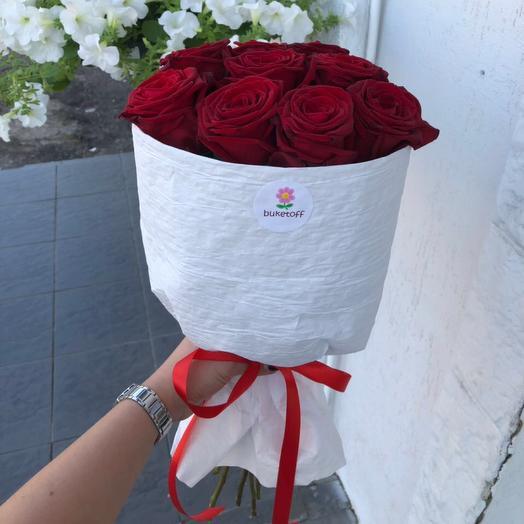 9 роз Эквадор : букеты цветов на заказ Flowwow