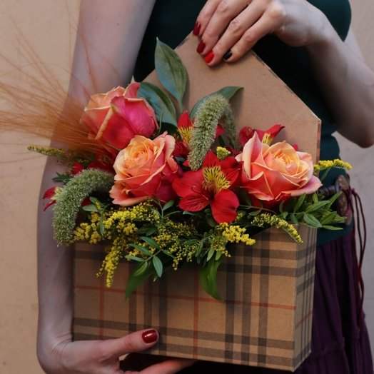 Стиль бербери: букеты цветов на заказ Flowwow