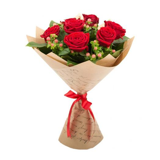 """БУКЕТ КРАСНЫХ РОЗ """"ОЧАРОВАНИЕ ОСЕНИ"""": букеты цветов на заказ Flowwow"""