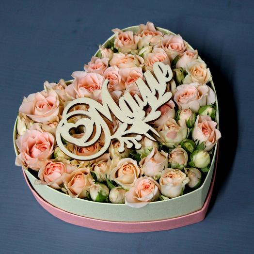 "Коробочка ""Любимой маме"": букеты цветов на заказ Flowwow"