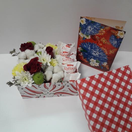 """Мини коробочка """"Признание """": букеты цветов на заказ Flowwow"""