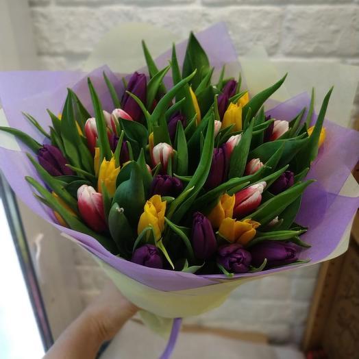 Букет 41 тюльпан: букеты цветов на заказ Flowwow