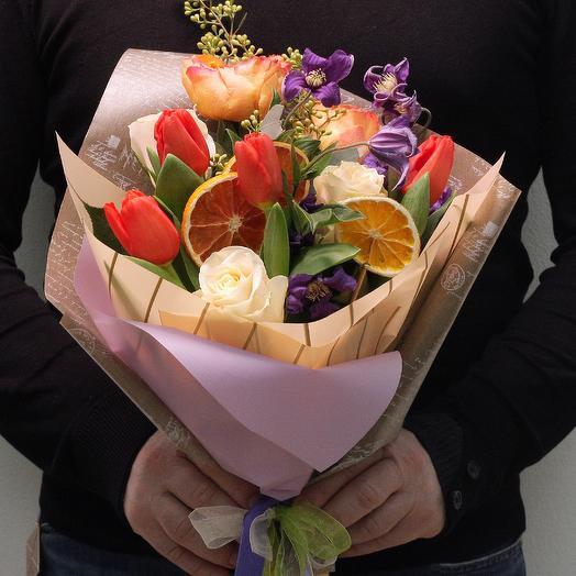 """Букетик """"Апельсиновый"""": букеты цветов на заказ Flowwow"""