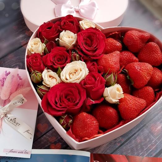 Ты моё сердце: букеты цветов на заказ Flowwow