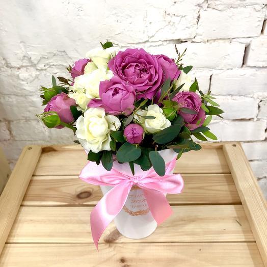 """Композиция в коробке """"Каприз"""": букеты цветов на заказ Flowwow"""