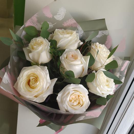 Ароматный букет пионовидных роз: букеты цветов на заказ Flowwow