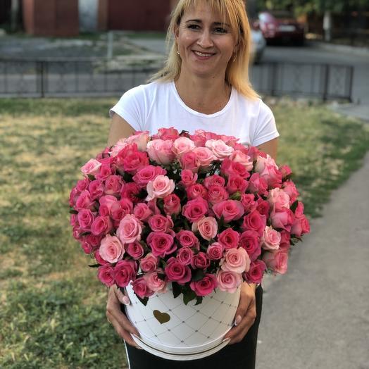 Коробка счастье: букеты цветов на заказ Flowwow