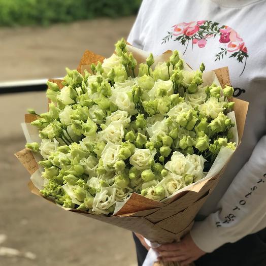 Эустома. Букет из 29 белой эустомы. N480: букеты цветов на заказ Flowwow