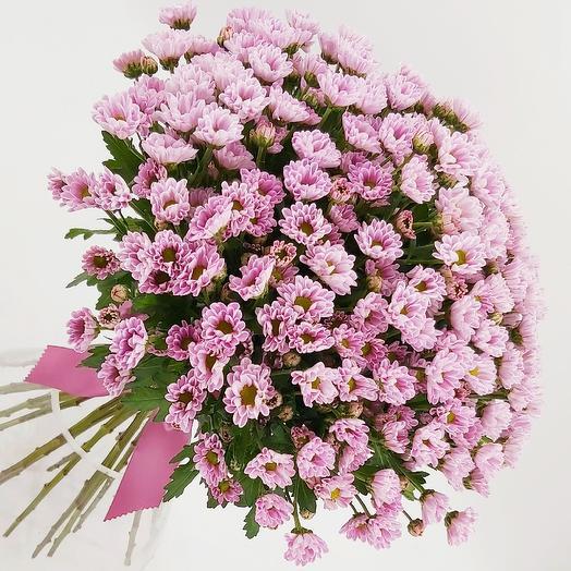 Охапка розовых ромашек: букеты цветов на заказ Flowwow
