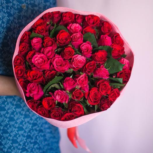 51 роза Кения: букеты цветов на заказ Flowwow