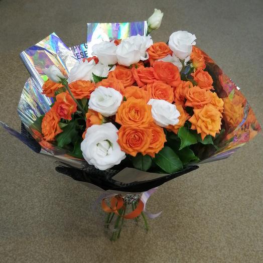 Апельсиновое настроение: букеты цветов на заказ Flowwow