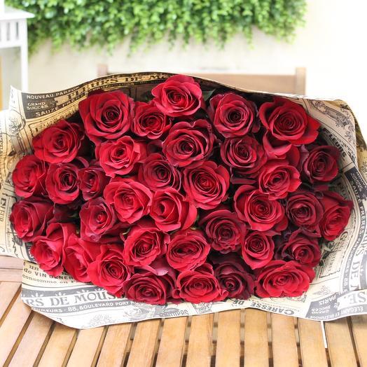 35 роз Premium. Craft