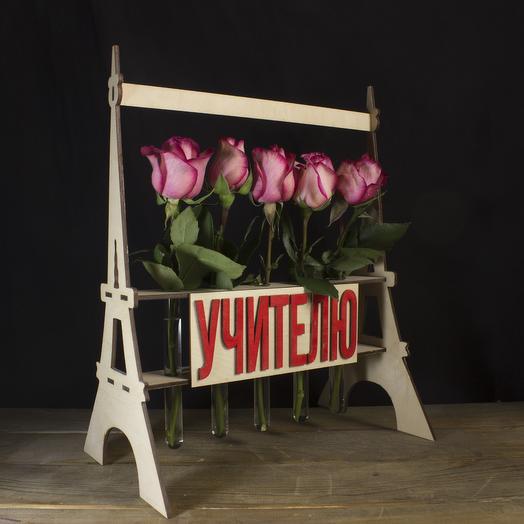 """Композиция """"Учителю"""" из 5 роз: букеты цветов на заказ Flowwow"""