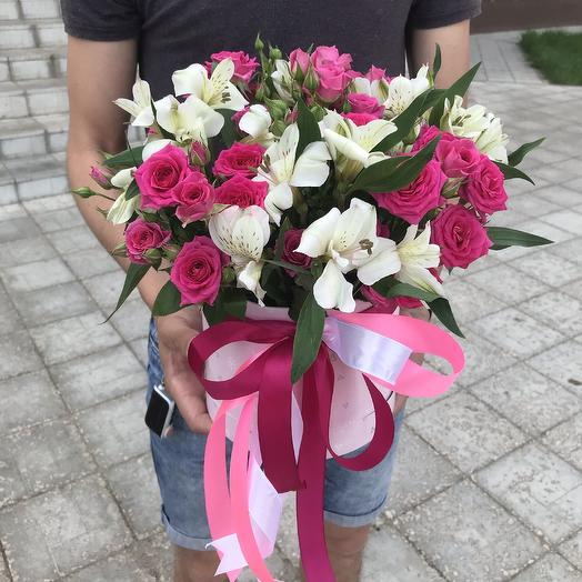 Коробочка с цветами: букеты цветов на заказ Flowwow