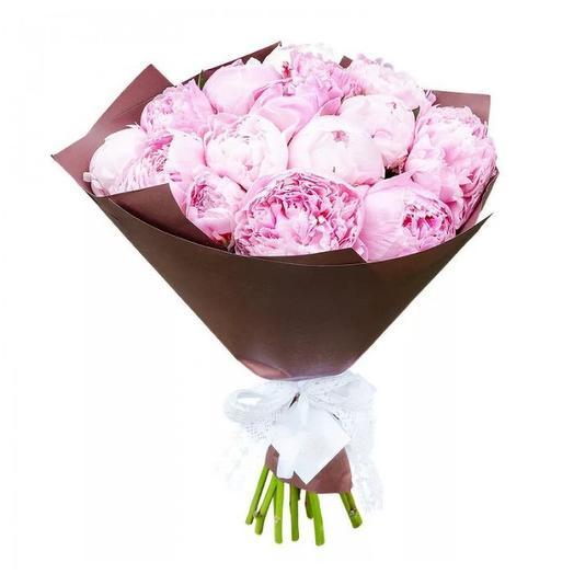 """Букет пионов """"Сара Браун"""": букеты цветов на заказ Flowwow"""