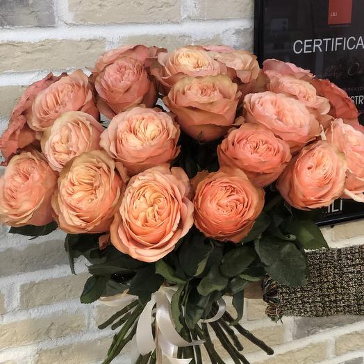 Пионовидная роза Кохала для любимой: букеты цветов на заказ Flowwow