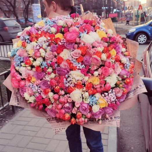 Гигант-букет: букеты цветов на заказ Flowwow