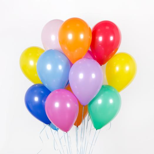 Ассорти из 25 mini-шаров с гелием (диаметр шара - 10″): букеты цветов на заказ Flowwow