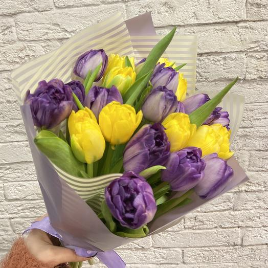 Яркие тюльпанчики для весеннего настроения: букеты цветов на заказ Flowwow
