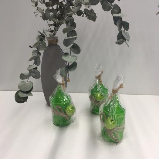 Свеча ароматическая «Зелёное яблоко»
