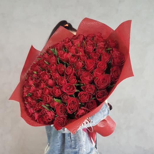 Любимой 101 роза. Букет 91