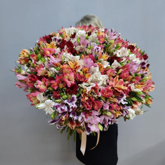 Микс альстромерий: букеты цветов на заказ Flowwow