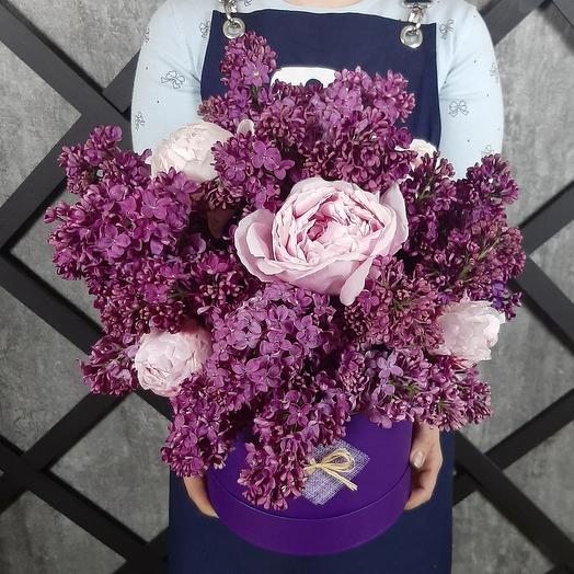 Сирень и пионы: букеты цветов на заказ Flowwow