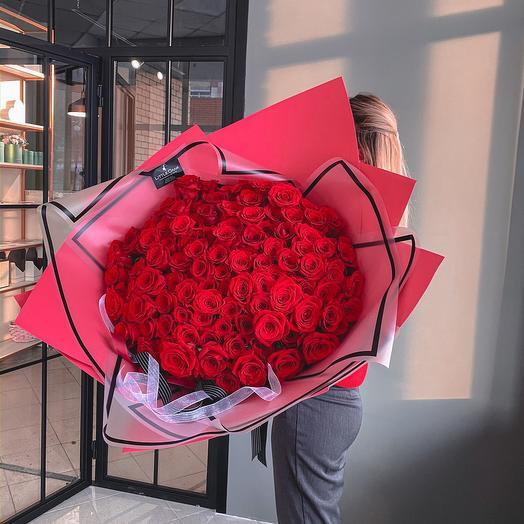 101 голландская Роза в фирменном оформлении